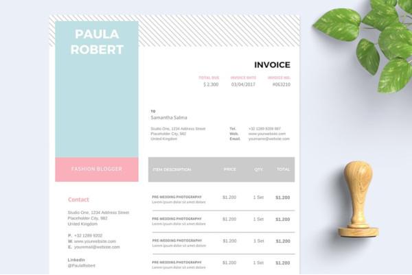 elegant invoice template receipt template