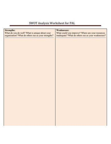 elegant nonprofit swot analysis template