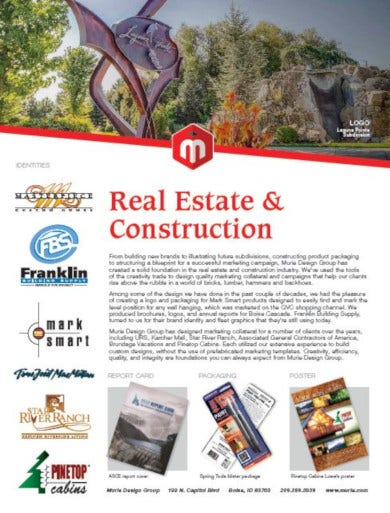 elegant real estate advertising template
