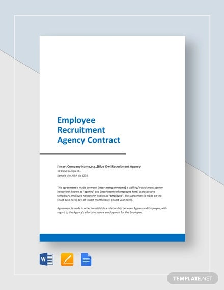 employee recruitment agency contract template1