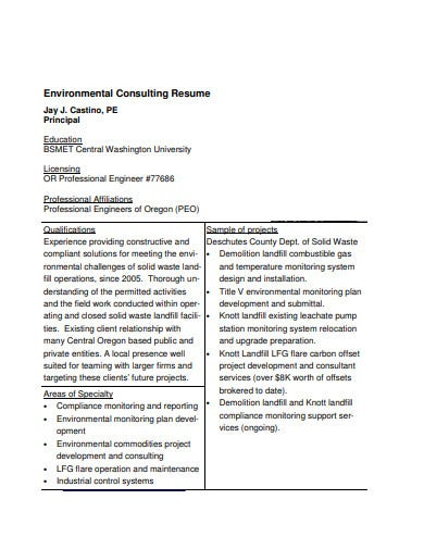 environmental-consulting-resume-template