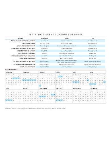 event schedule planner in pdf1