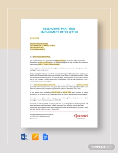 example job offer letter template