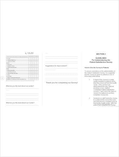 example patient satisfaction survey template download