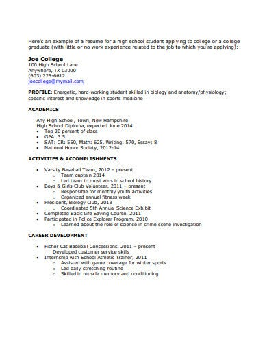 example-of-college-graduate-resume