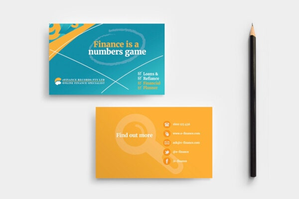 exclusive financial business card template