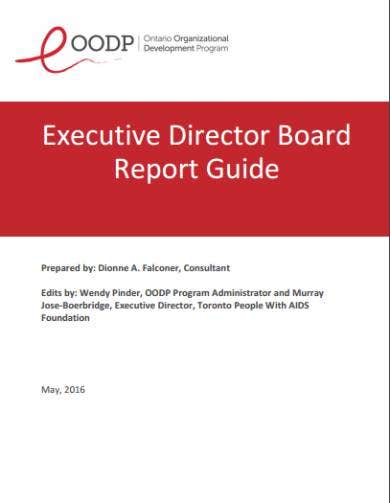 executive director board report guide