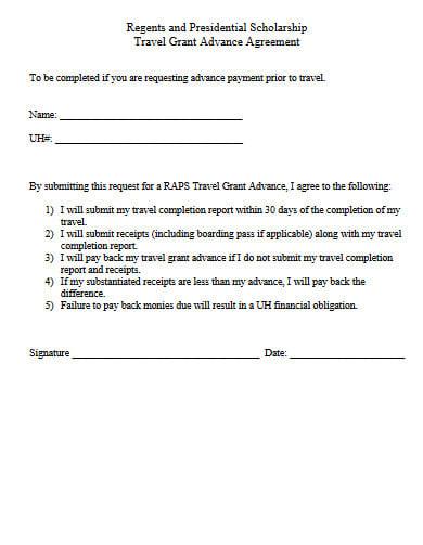 exemplar travel grant proposal template