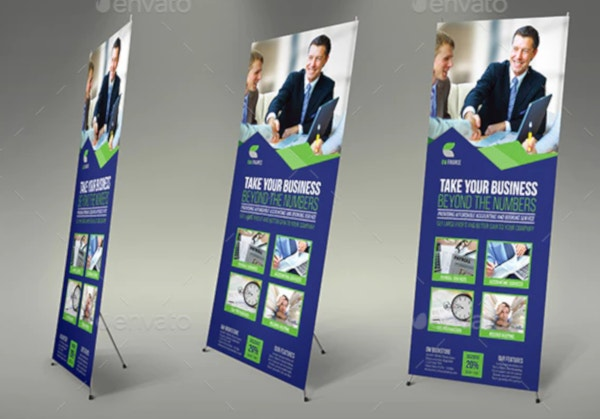eye catching financial roll up banner template