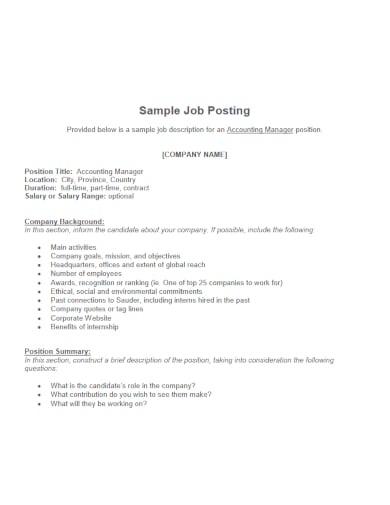 fascinating job posting template
