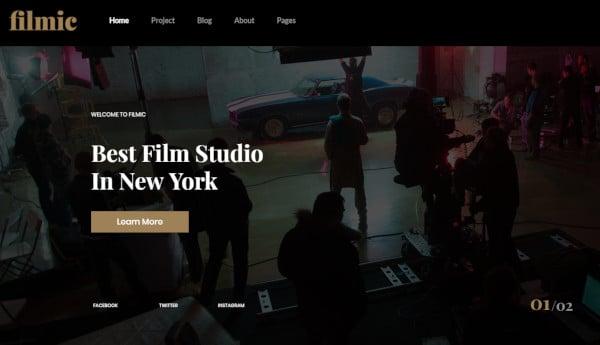filmic custom wordpress theme