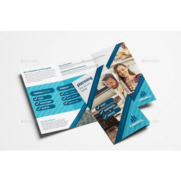 financial advisor tri fold brochure template