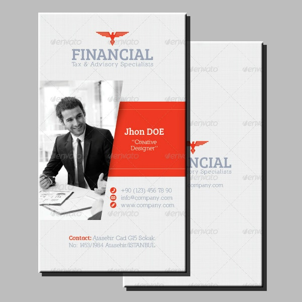 Financial Advisory Business Card Layout