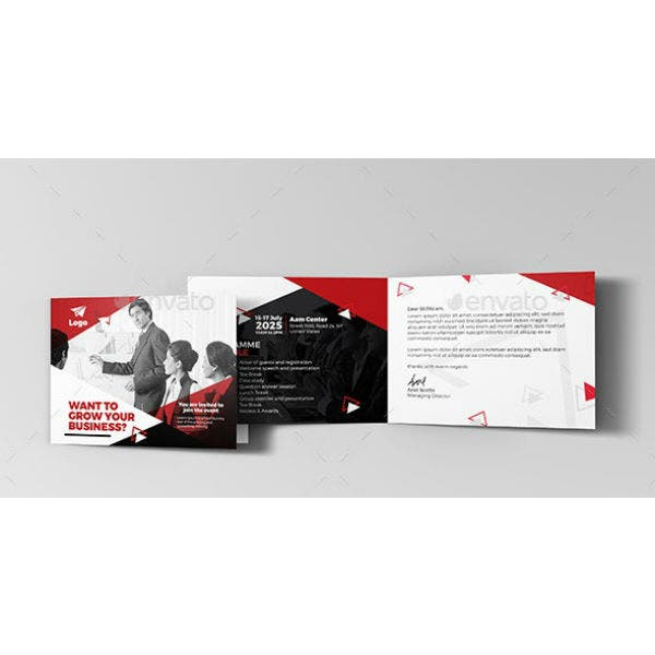 financial conference invitation card template