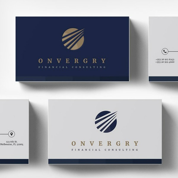 Financial Consulting Business Card Design