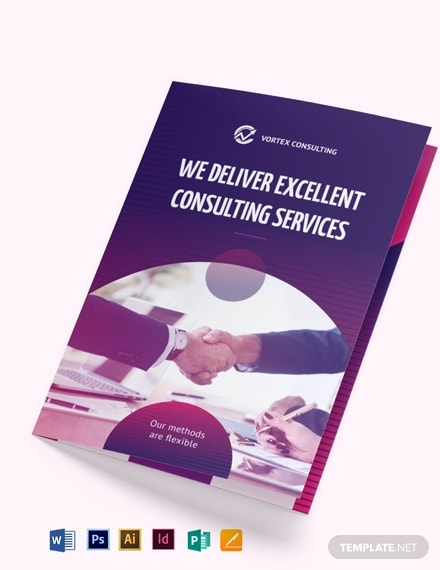 financial consulting services brochure template