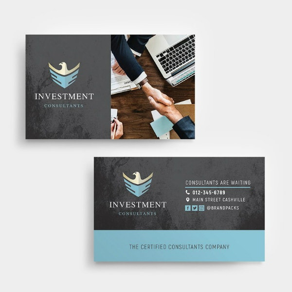 Financial Investment Business Card Format