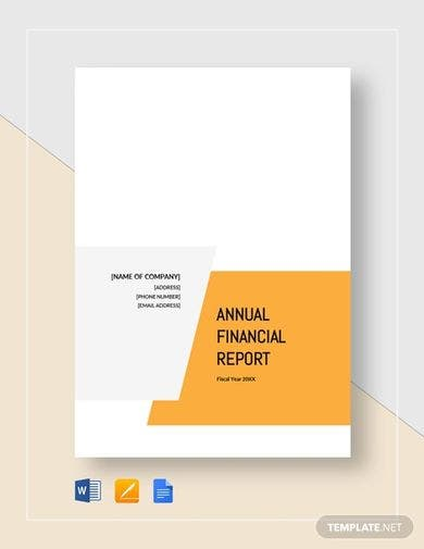 financial report sample for small business template1