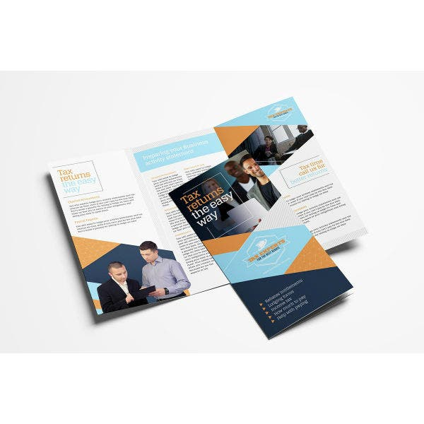 financial tax service brochure template