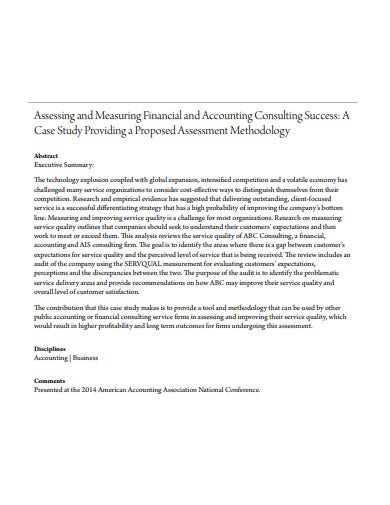 formal consulting assessment template