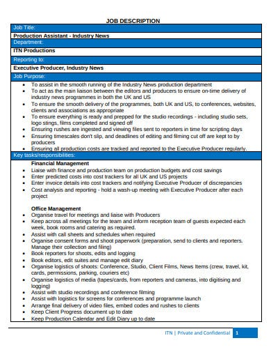 formal production assistant invoice