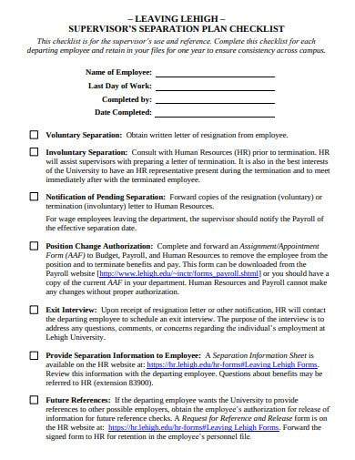 formal resignation checklist