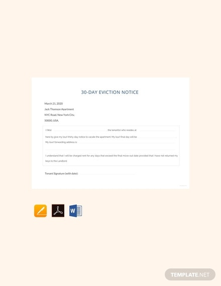 free 30 day eviction notice template 440x570 1