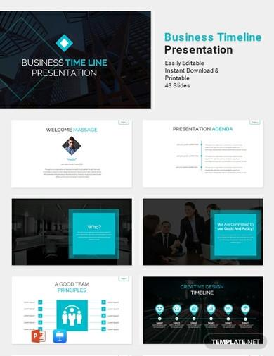 free business timeline presentation template