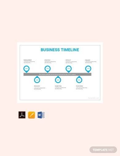 free business timeline template