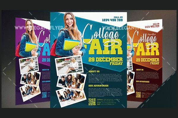 free college fair flyer template