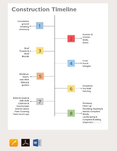 10 construction timeline templates google docs word. Black Bedroom Furniture Sets. Home Design Ideas