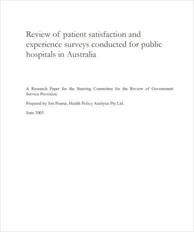 free download patient satisfaction survey template pdf download