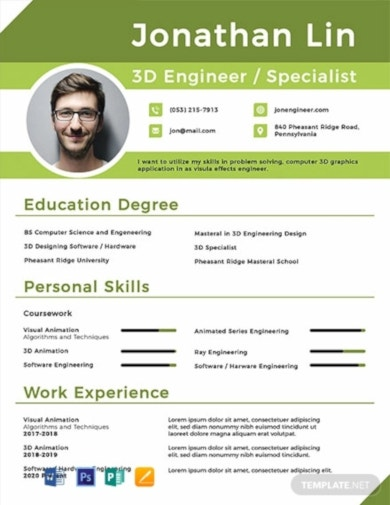 free engineering fresher resume template