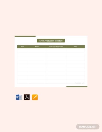 18 Production Schedule Templates Google Docs Google Sheets Pages Numbers Ms Excel Ms Word Editable Pdf Free Premium Templates