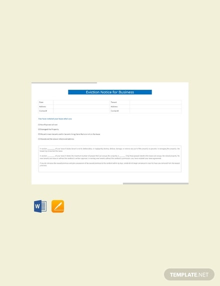 free eviction notice for business template 440x570 1