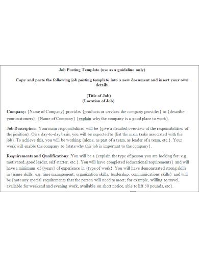 free job posting template