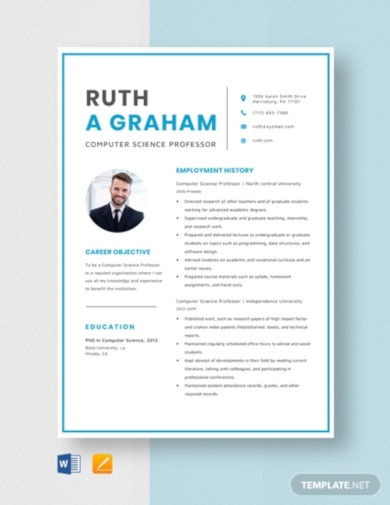 free job resume template