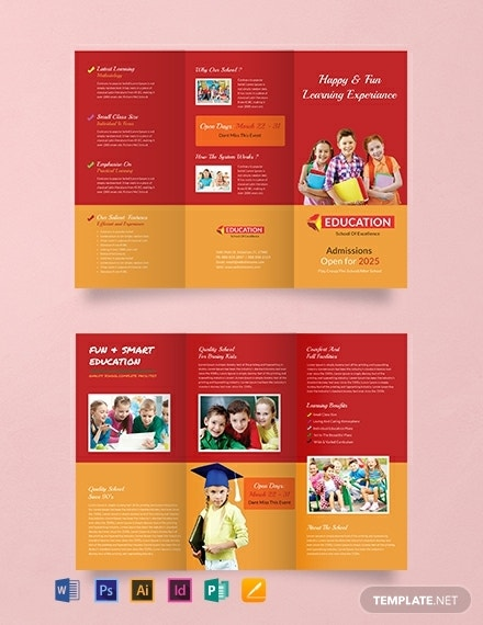 free kindergarten tri fold design sample1