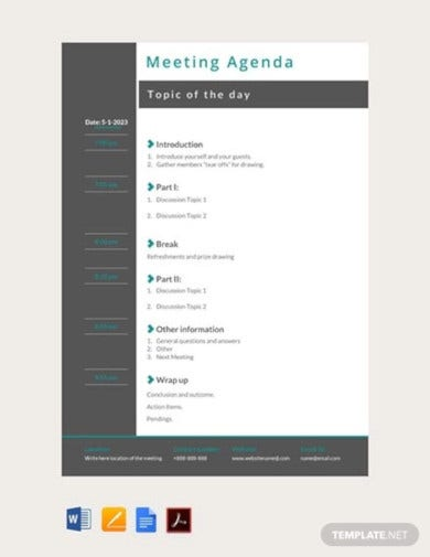 free meeting agenda template