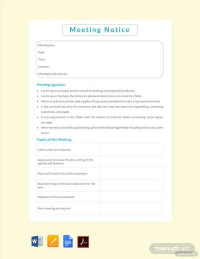 free-meeting-notice-template