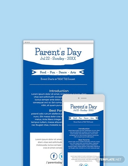 free parent s day email newsletter
