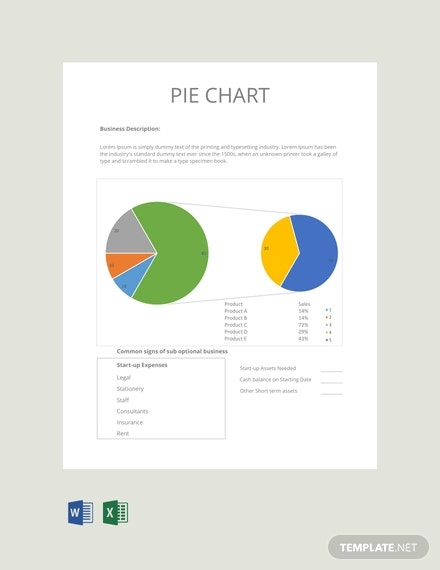 free pie chart template
