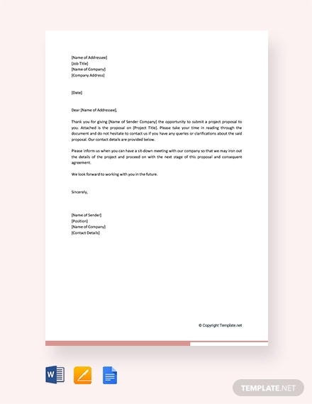 free project proposal letter