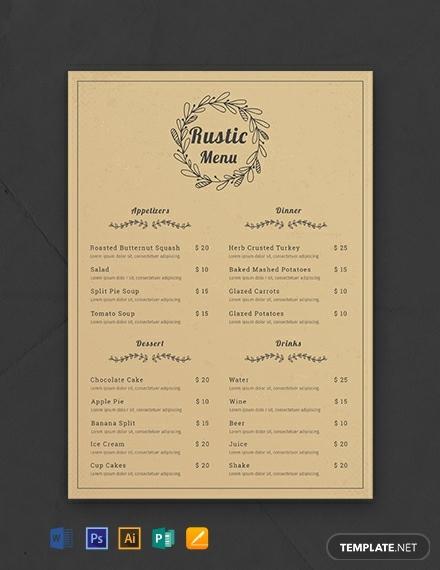 free rustic menu template 440x570 11