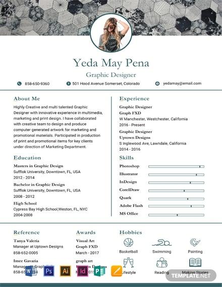 free simple modern resume template