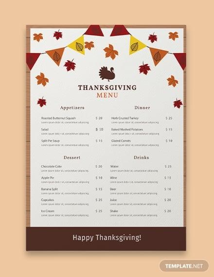 11  best holiday menu templates