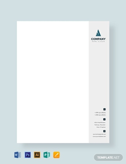 free travel business letterhead sample