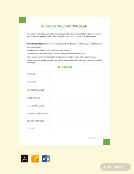free business sales action plan template 440x570 1
