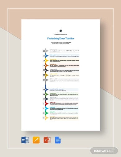 fundraising event timeline templates