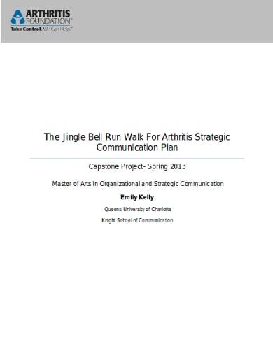 fundraising strategic communication plan